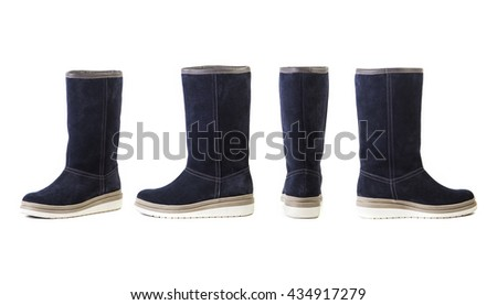 women's shoes on a white background, shop, boots on a white background