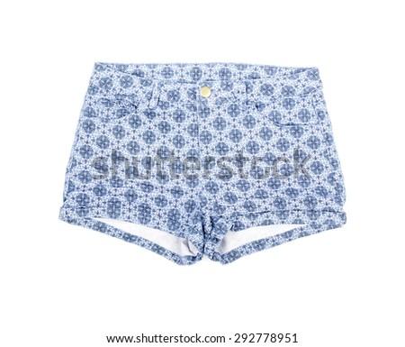Women's Shorts Isolated on White - stock photo