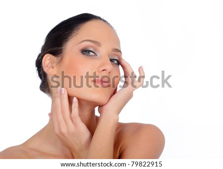 Women's view - stock photo