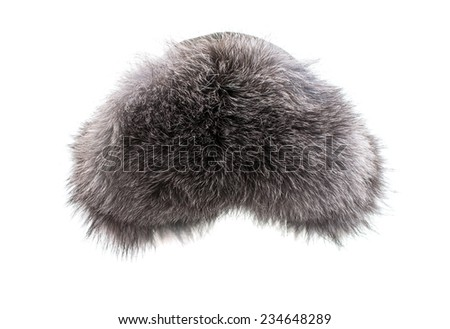 Women's winter hat isolated on white