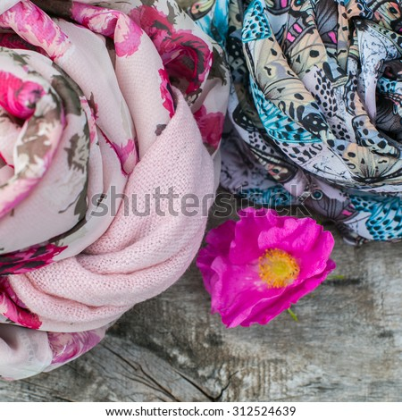women scarf - stock photo