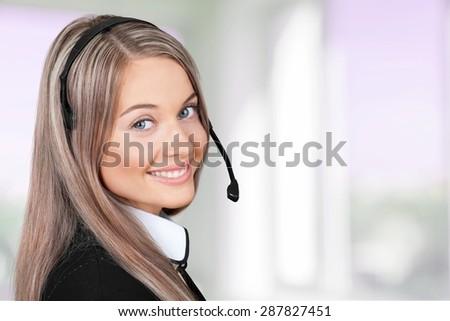 Women, Service, Customer Service Representative. - stock photo