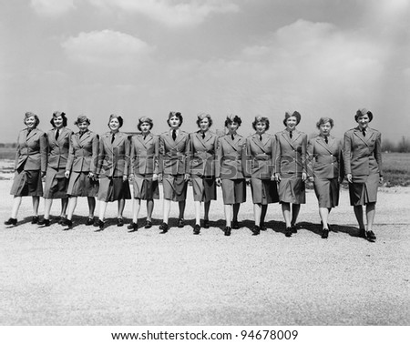 Women serving their country - stock photo