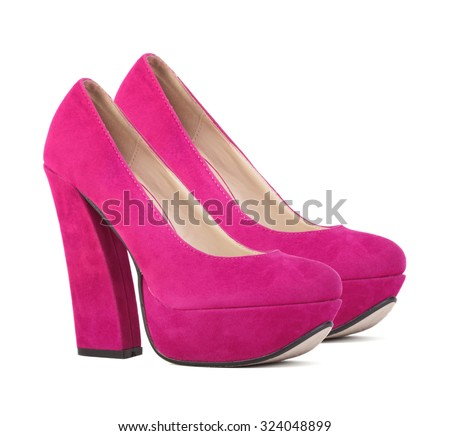 Women shoes on white background
