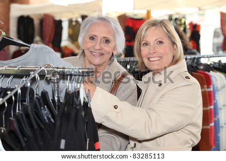 Women shopping - stock photo