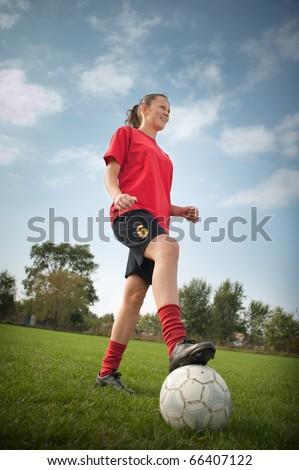 women soccer - stock photo