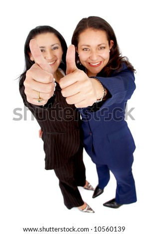 women sucess in business isolated over a white background - stock photo