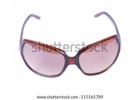 Women sunglasses isolated on white