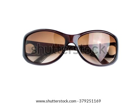 Women sunglasses isolated on white background isolated
