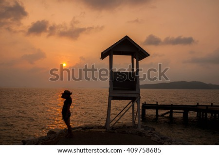 Women Sunrise Beach