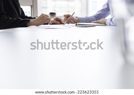 Women that meeting in the office - stock photo