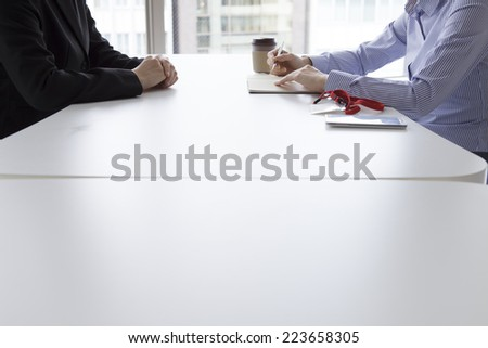 Women to interview in the office - stock photo