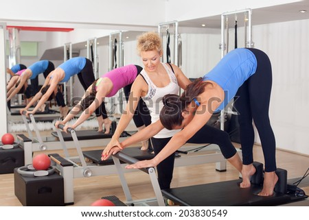 Women training in the gym - stock photo
