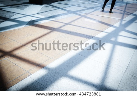 Women walking along the footway - Concept background - Retro style ,Soft light tone  - stock photo