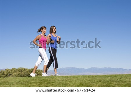 Women Walking, Jogging & Exercise - stock photo