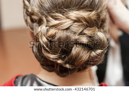 women wedding hairstyle, rear view