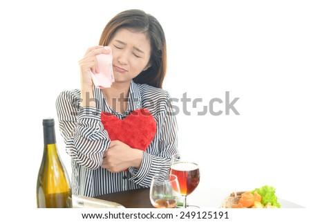 Women who drank too much liquor - stock photo