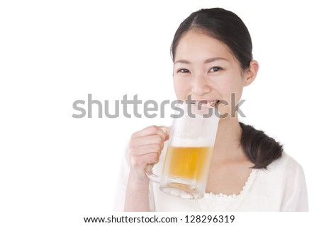 Women who drink beer - stock photo