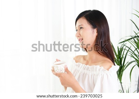 Women who enjoy a coffee time