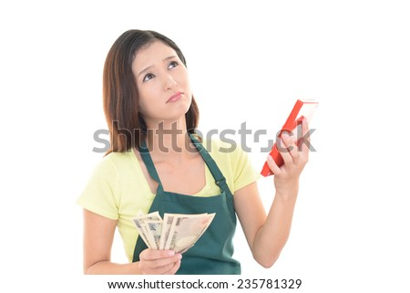 Women with a calculator