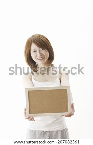 Women With A Cork Board