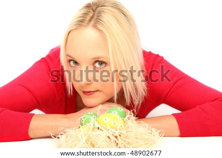 Women with Easter basket