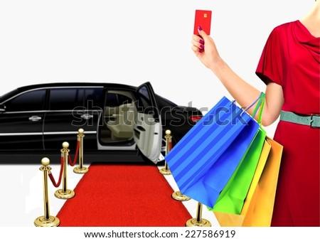 Women with Luxury Lifestyle Shopping - stock photo