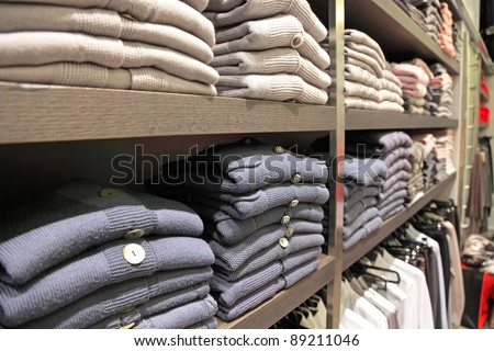 womens clothes on a rack - stock photo