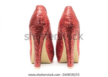 Womens high heels isolated on white background - stock photo