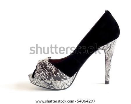 Womens shoes on a white background.