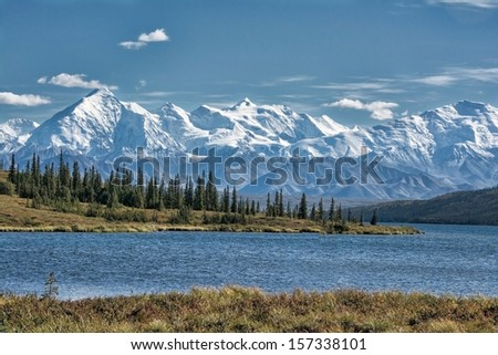 Wonder Lake Denali National Park - stock photo