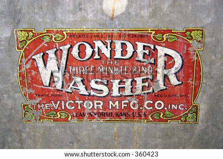 Wonder Washer label from North Star Mining Museum
