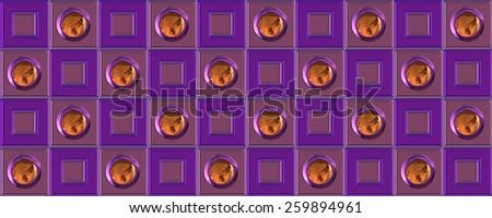 wonderful abstract illustrated glass pattern - stock photo