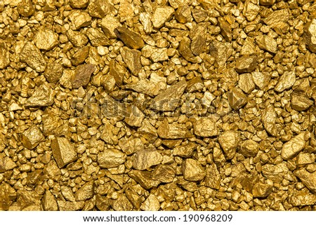wonderful Background with a lot of gold nuggets - stock photo