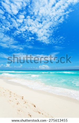 Wonderful beaches of Cancun, Mexico  - stock photo