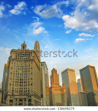 Wonderful Chicago Skyline. - stock photo