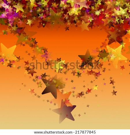 wonderful christmas background design illustration with glowing stars