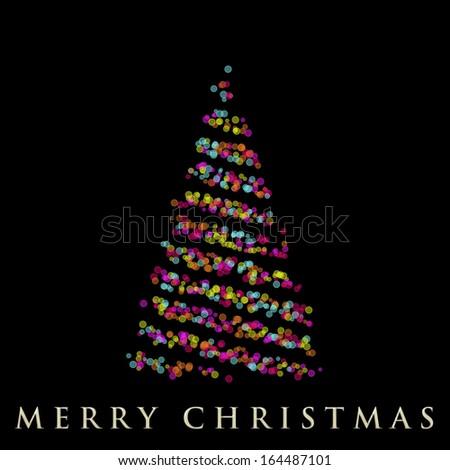 wonderful christmas tree illustration - stock photo