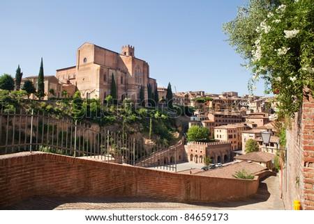 Wonderful city of Italy, Siena. Tuscany, Italy. - stock photo