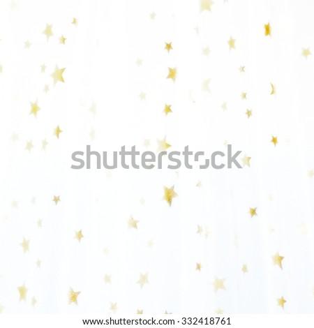wonderful golden stars - stock photo