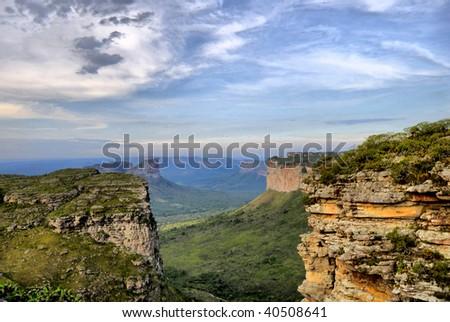 Wonderful Landscape in Brazil - Chapada Diamantina . - stock photo