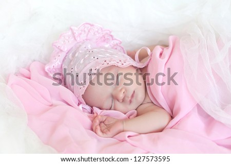 Wonderful little baby - stock photo