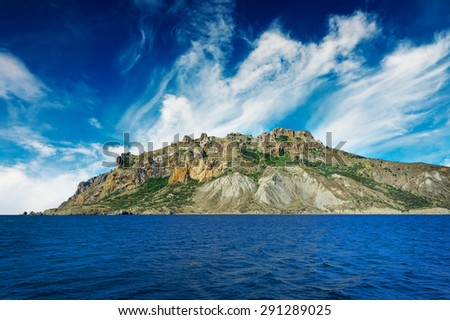 Wonderful rocks in  the Karadag. Koktebel, Crimea