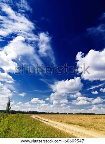 Wonderful rural landscape in finish summer. - stock photo