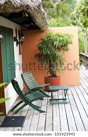 Wonderful seating area for two in the tropics - stock photo