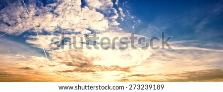 wonderful sky , Panorama - stock photo