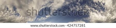 wonderful sky panorama - stock photo