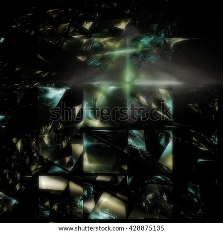 Wonderful space crystal concept art. - stock photo