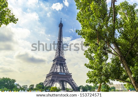 Wonderful view of Tower Eiffel.