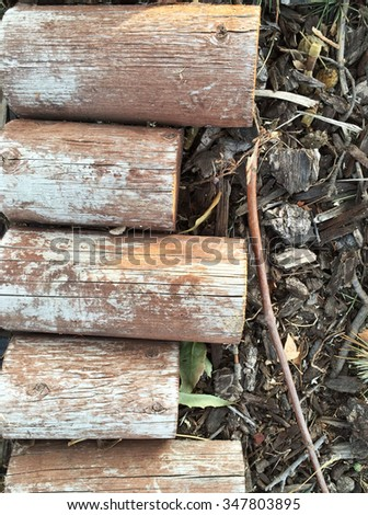 Stack Firewood On Concrete Floor Stock Photo 531404446